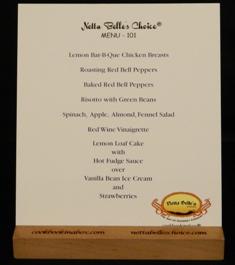 Netta Belle's Choice® Menu 101