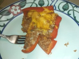 A taste of Stuffed Red Bell Pepper.