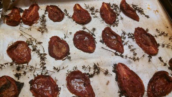 Oven Dried San Marzano Tomatoes