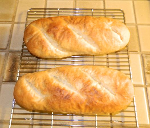 French Bread using Julia Child's recipe.
