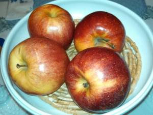 Bowl of Gala Apples for Apple Cobbler