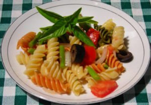 Vegetable Fusilli Salad Plate