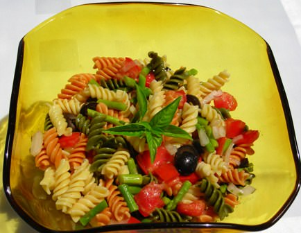 Vegetable Fusilli Salad