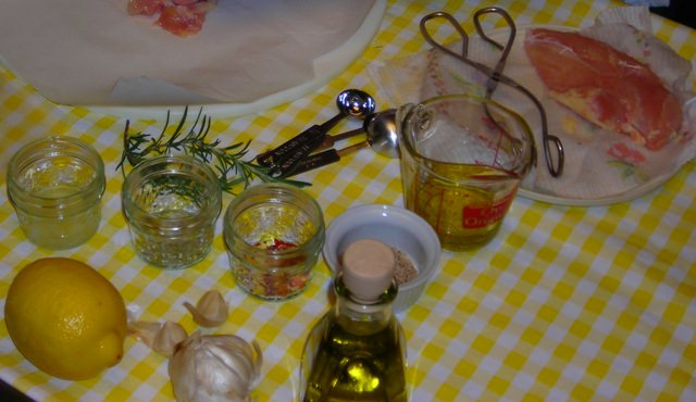 Ingredients for the Lemon Bar-B-Que Marinade