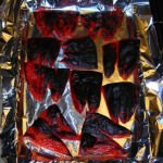 Blackened roasted bell peppers