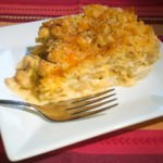 Macaroni, chicken and cheese casserole