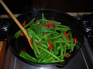 Green Beans - Red Bell Pepper Stir Fry