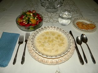Potato and Crab Meat Soup