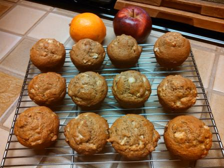 Whole Wheat Flax Seed Apple Muffins