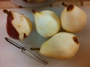 Peeled Anjou Pears
