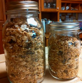 Granola 74 makes 6 cups