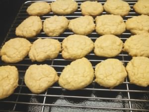 Out of the oven, Olive Oil Coconut Sugar Cookies