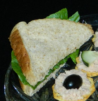 Ham Salad Sandwich and on crackers for appetizer