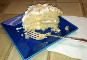 A serving of Coconut Cake _580
