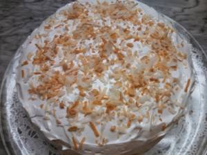 Coconut Cake made with Coconut Oil