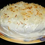 Coconut Layer Cake with Fluffy Coconut Icing
