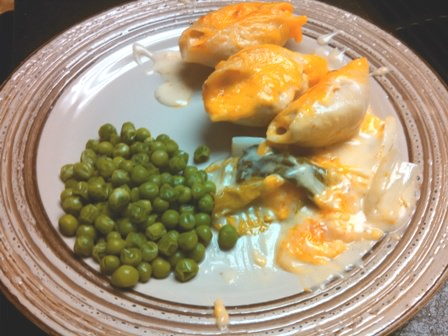 Salmon Shells in Lemon Cream Sauce Dinner