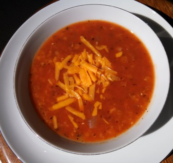 Bowl of Ginger, Tomato, and Lentil Soup