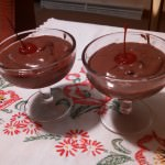 Chocolate Pudding with Maraschino Cheerries