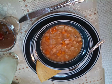 Meatless navy Bean Soup