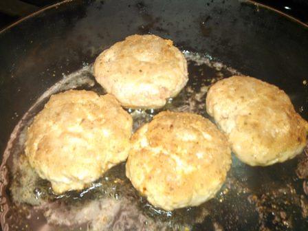 Browned Turkey Patties