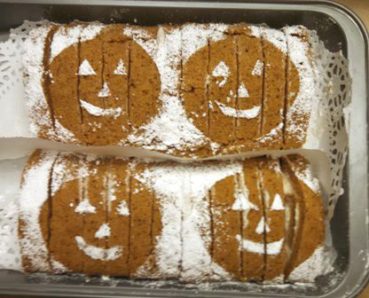 2 Pumpkin Rolls Ready for the Halloween Party