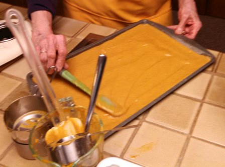 Leveling batter before baking