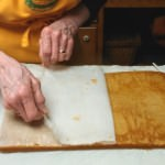 Removing parchment paper