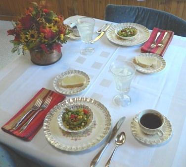 Marinated Fegetable Salad is served.
