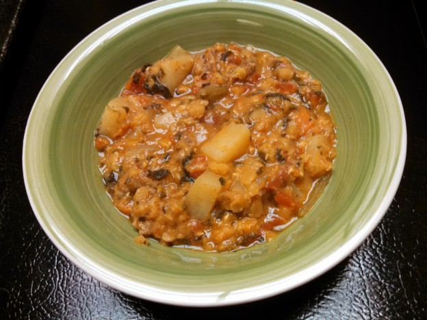 Red Lentils-Sausage Stew