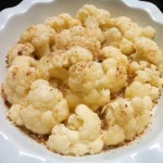 Steamed cauliflower sprinkled with bread crumbs