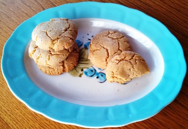 Smaller plate of Sesame Cookies