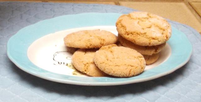 Plate of Sesame Cookies